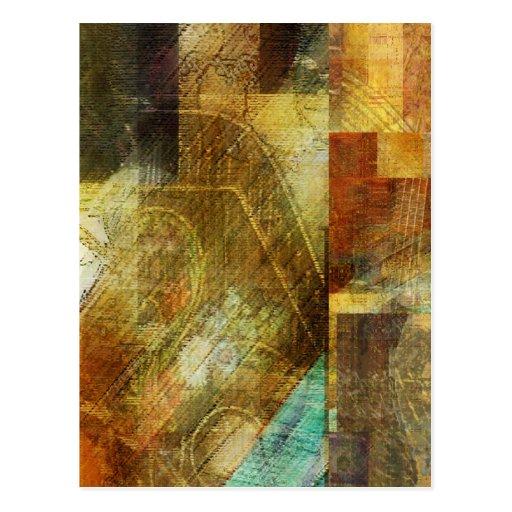 Ventana abstracta una de la tienda de la música tarjeta postal