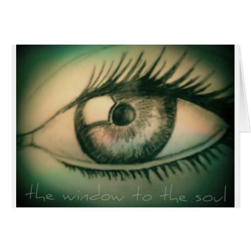 ventana al alma tarjeta de felicitación