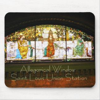 Ventana alegórica - estación de la unión de St. Lo Mouse Pad