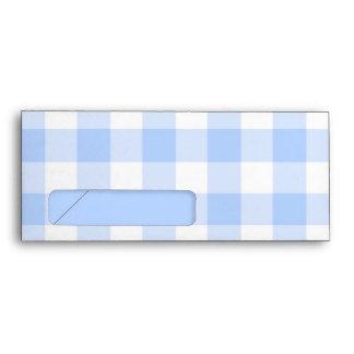 Ventana azul claro del negocio del modelo #10 de l sobres