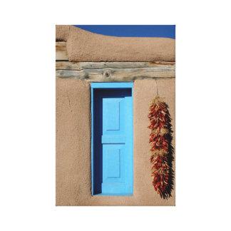 Ventana azul de Taos Lona Estirada Galerías