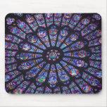 Ventana color de rosa de Notre Dame Tapete De Ratones