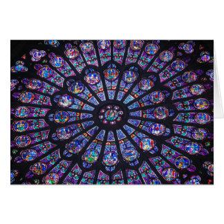 Ventana color de rosa de Notre Dame Tarjeta De Felicitación