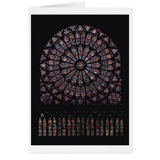 Ventana color de rosa del transept del norte repre tarjeton