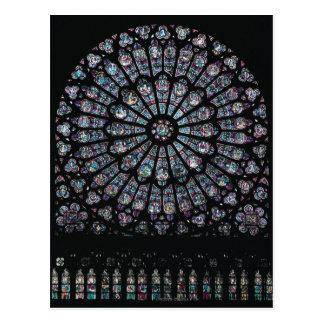Ventana color de rosa del transept del norte tarjeta postal