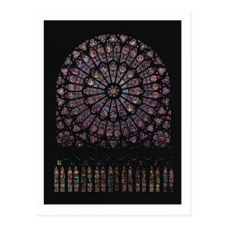 Ventana color de rosa del transept del norte tarjetas postales