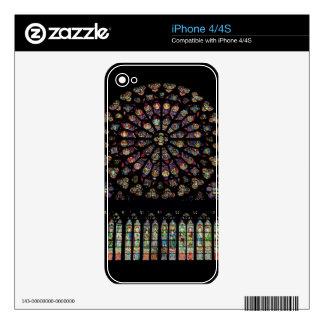 Ventana color de rosa del transept del sur que rep iPhone 4 skins