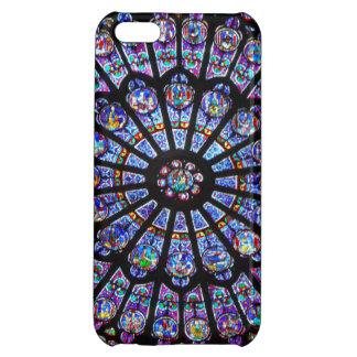 Ventana color de rosa hermosa de Notre Dame