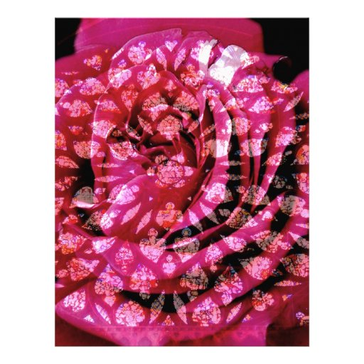 Ventana color de rosa membrete personalizado