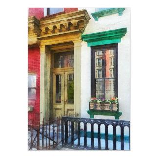 Ventana con reflexiones y Windowbox Invitación 12,7 X 17,8 Cm