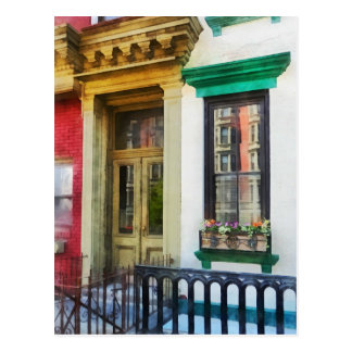 Ventana con reflexiones y Windowbox Postal
