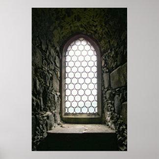 Ventana de castillo póster