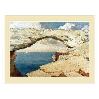 Ventana de cristal, Bahamas de Winslow Homer Tarjetas Postales