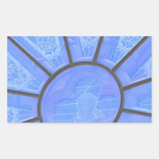 Ventana de cristal rectangular pegatina