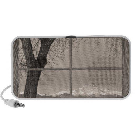 ventana de imagen de madera winter de los ongs del iPod altavoces