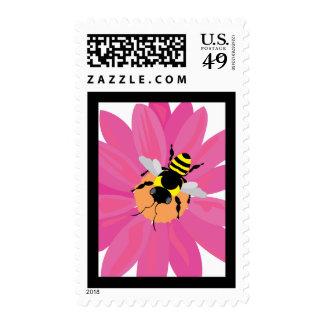 Ventana de la flor y de la abeja sellos