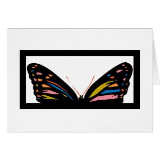 Ventana de la mariposa tarjetas