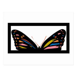 Ventana de la mariposa tarjetas postales