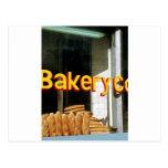 Ventana de la panadería tarjetas postales