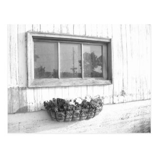 Ventana de la puerta de granero/fotografía blanco postal