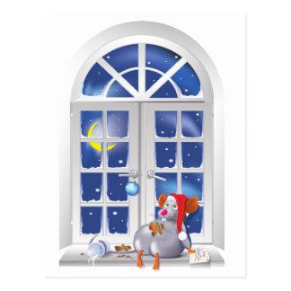 Ventana de Navidad Tarjeta Postal
