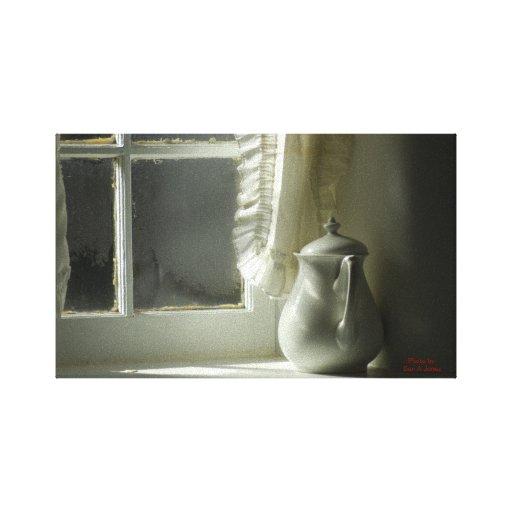 Ventana del invierno lienzo envuelto para galerías