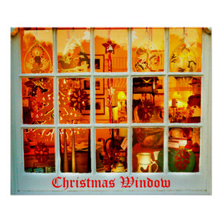 ventana del navidad póster