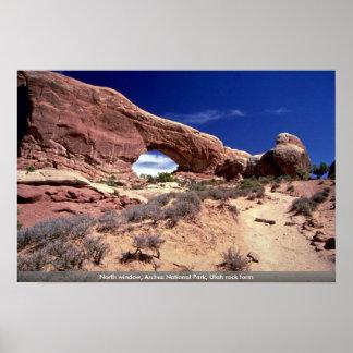 Ventana del norte, arcos parque nacional, forma de póster