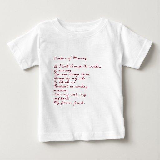 Ventana del poema de la memoria camiseta