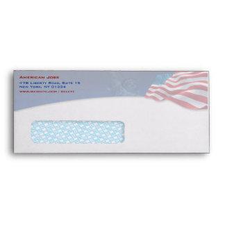 Ventana del sobre #10 de la bandera americana