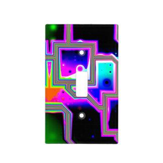 Ventana en el universo, magenta y ciánico abstract cubiertas para interruptor