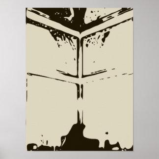 Ventana fantasmagórica el la noche de Halloween Poster