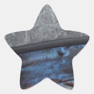 Ventana fosted camión azul pegatina en forma de estrella