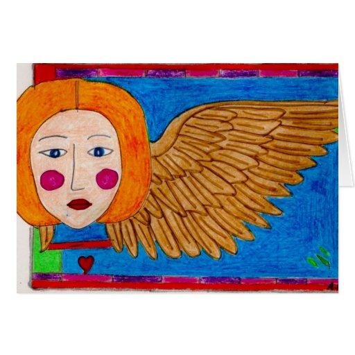 ventana manchada ángel felicitaciones