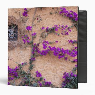 """Ventana ornamental con el bougainvillea carpeta 1 1/2"""""""