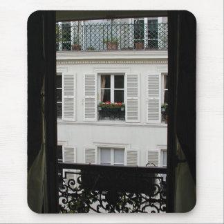 Ventana parisiense Mousepad Alfombrillas De Ratones