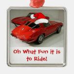 Ventana partida del Corvette del navidad Ornamentos De Reyes Magos