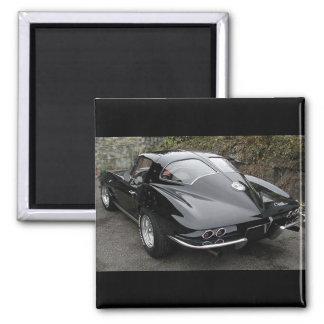 Ventana partida del negro clásico del Corvette Imanes Para Frigoríficos