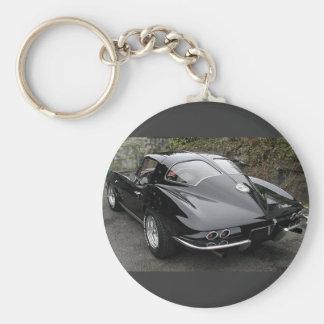 Ventana partida del negro clásico del Corvette Llavero Redondo Tipo Pin