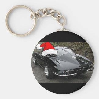 Ventana partida navidad del negro del Corvette Llaveros Personalizados