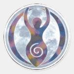Ventana-Pegatina espiral de la diosa