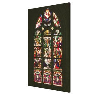 Ventana que representa el bautismo de Cristo, 1490 Lona Envuelta Para Galerias