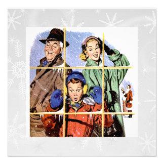 Ventana retra del navidad de los años 50 comunicado