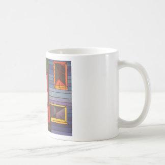 Ventana roja taza de café
