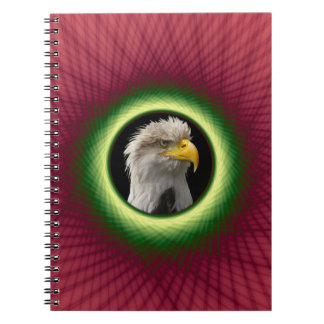 Ventana rosada y verde tejida cuaderno