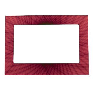 Ventana rosada y verde tejida marco magnético marcos magnéticos para fotos