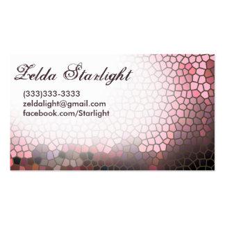 Ventana teñida rosa tarjetas de visita