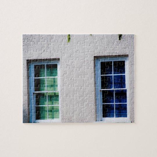 Ventana verde, ventana azul puzzle