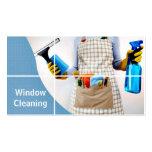 Ventana, vidrio, tarjeta de visita de la limpieza