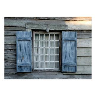 ventana vieja de la moda plantillas de tarjeta de negocio